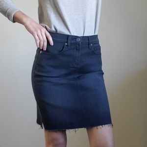 LOFT Black Denim Skirt